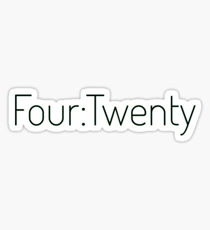 Four:Twenty 4:20 - Black with Green Sticker