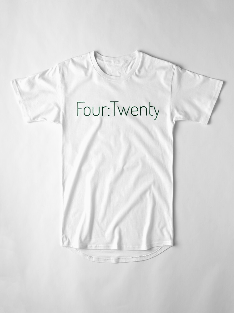 Alternate view of Four:Twenty 4:20 - Black with Green Long T-Shirt
