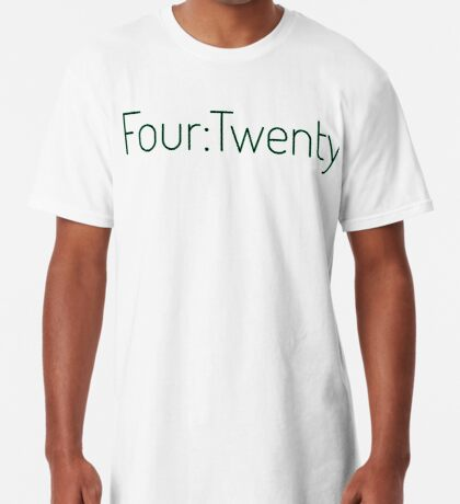 Four:Twenty 4:20 - Black with Green Long T-Shirt