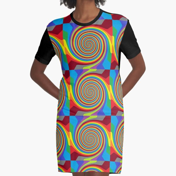 Op art - art movement, short for optical art, is a style of visual art that uses optical illusions Graphic T-Shirt Dress