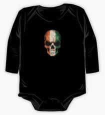 Ivory Coast Flag Skull One Piece - Long Sleeve