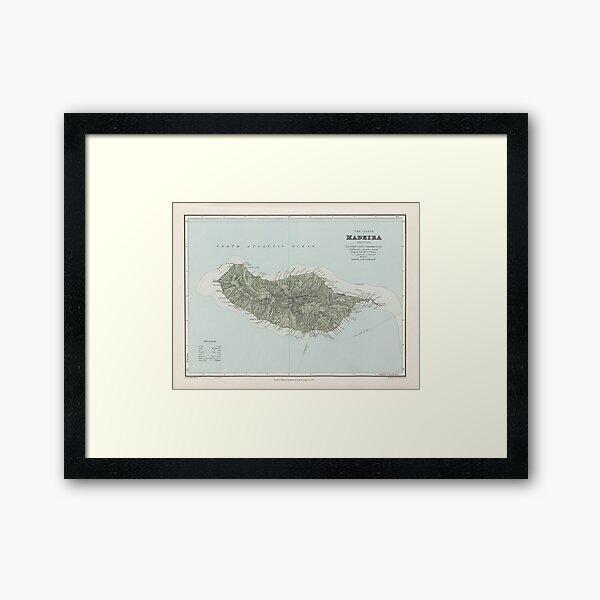 Vintage Madeira Island Map (1904) Framed Art Print