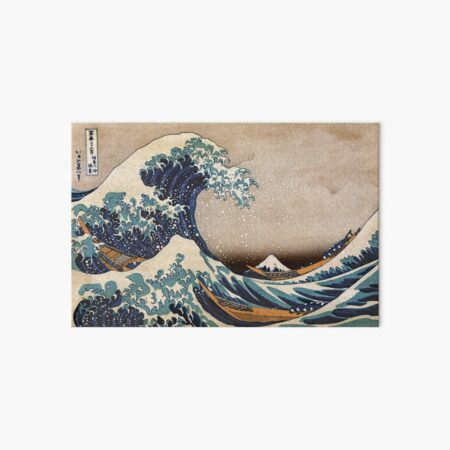 The Great Wave off Kanagawa Art Board Print