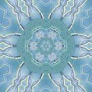 AQUA-batics variation 5 Greeny-blue geometric abstract pattern - jenny meehan by JennyMeehan