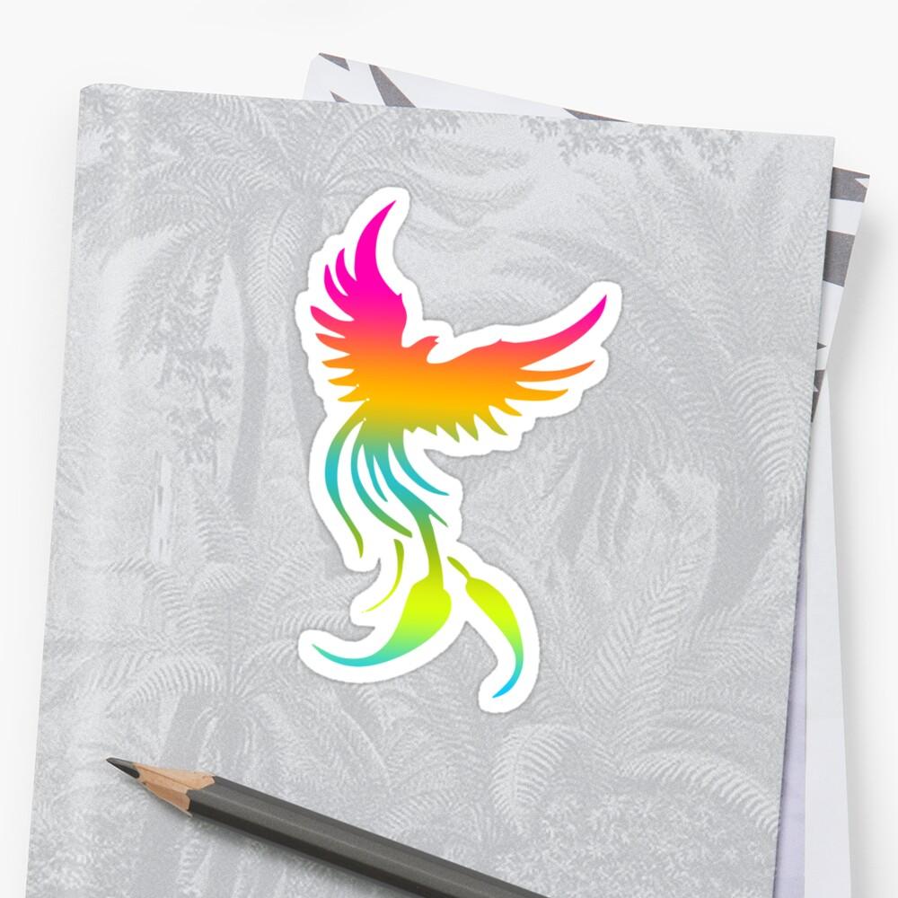 Colorful mythical bird Phoenix by Smaragdas