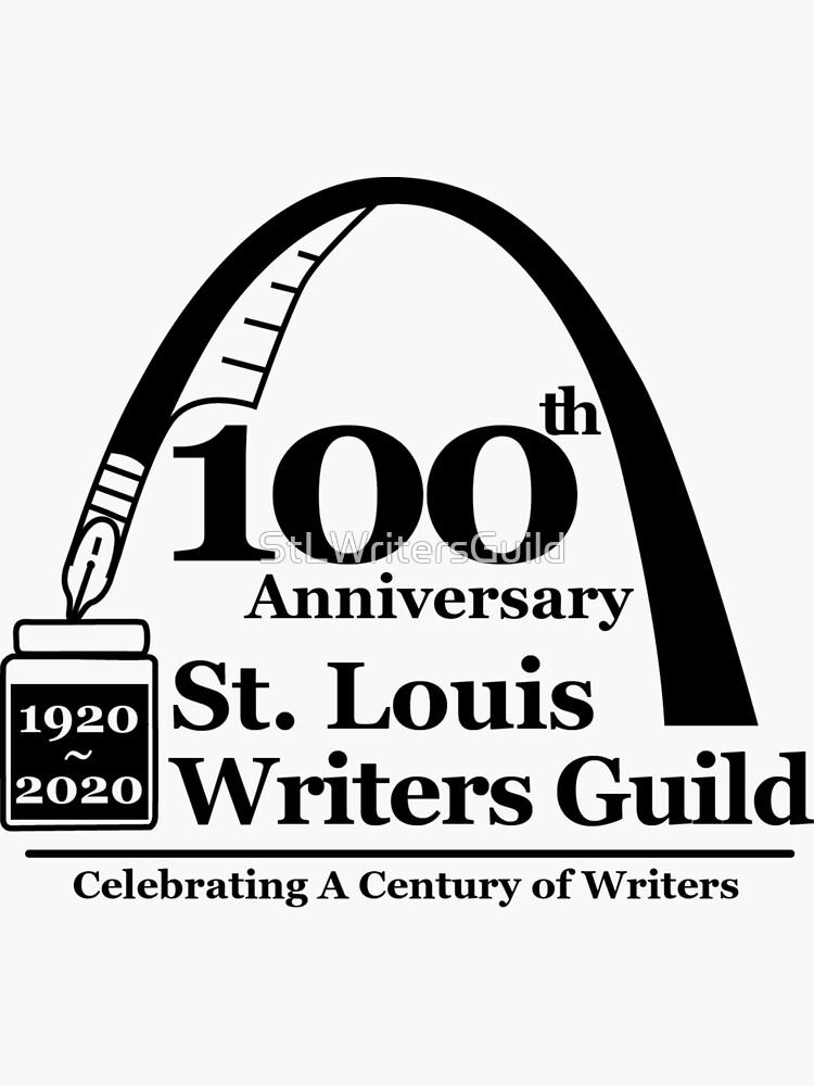 St. Louis Writers Guild 100th Anniv - Logo Black by StLWritersGuild