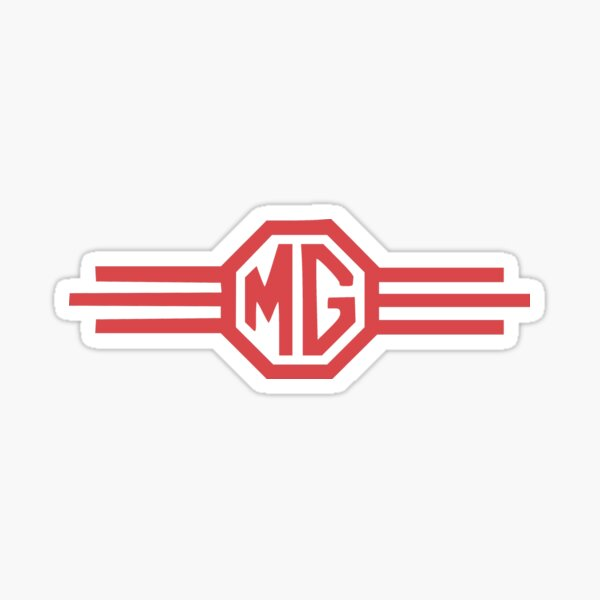 Vintage MG Automotive Badge Logo Sticker