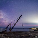 Milkyway above Portland Bill Lighthouse by Jens Roesner