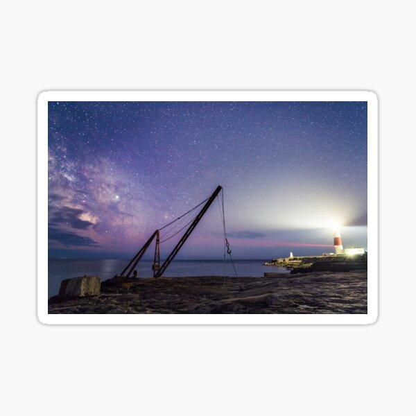 Milkyway above Portland Bill Lighthouse Sticker