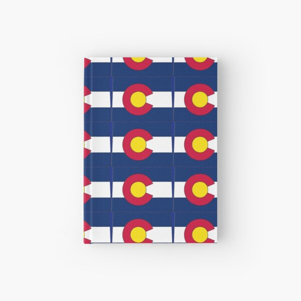 Colorado Map With Colorado State Flag Hardcover Journal