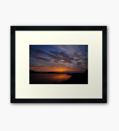 Sunrise over the Estuary Framed Print