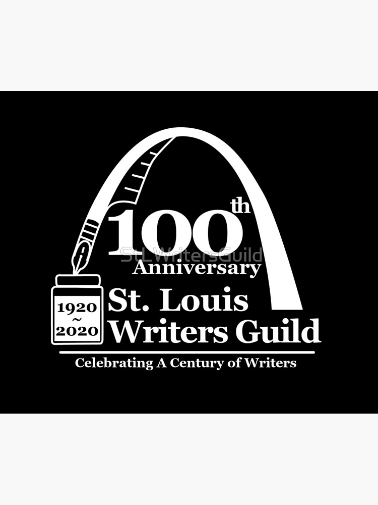 St. Louis Writers Guild 100th Anniv - Logo White by StLWritersGuild