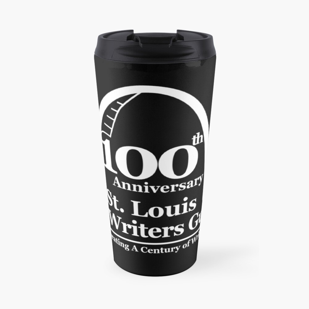 St. Louis Writers Guild 100th Anniv - Logo White Travel Mug