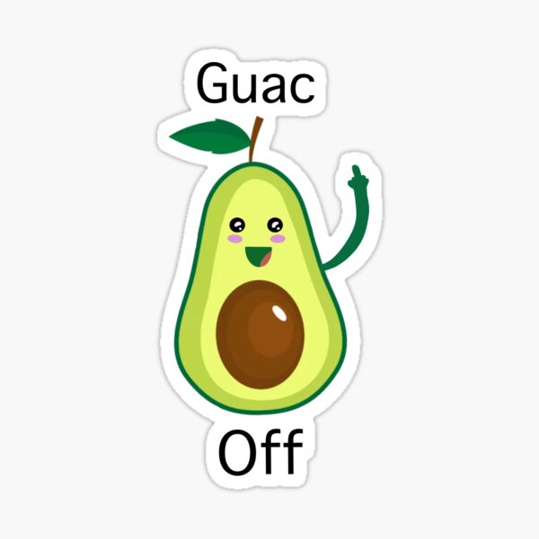 Guac Off Sticker