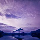 Mount Fuji under an infrared night sky by Jens Roesner