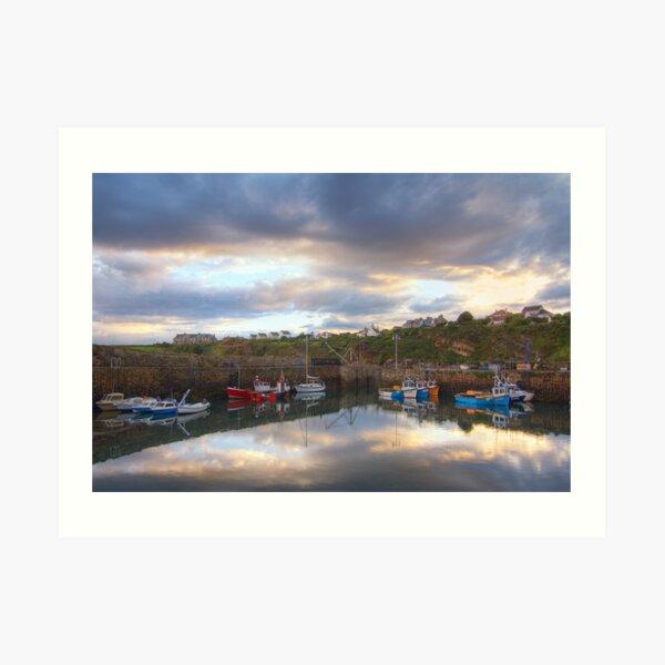 Crail Harbour Reflections Art Print