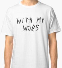 Camiseta clásica Con mis problemas [negro]