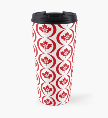 Hong Konger Canadian Multinational Patriot Flag Series Travel Mug