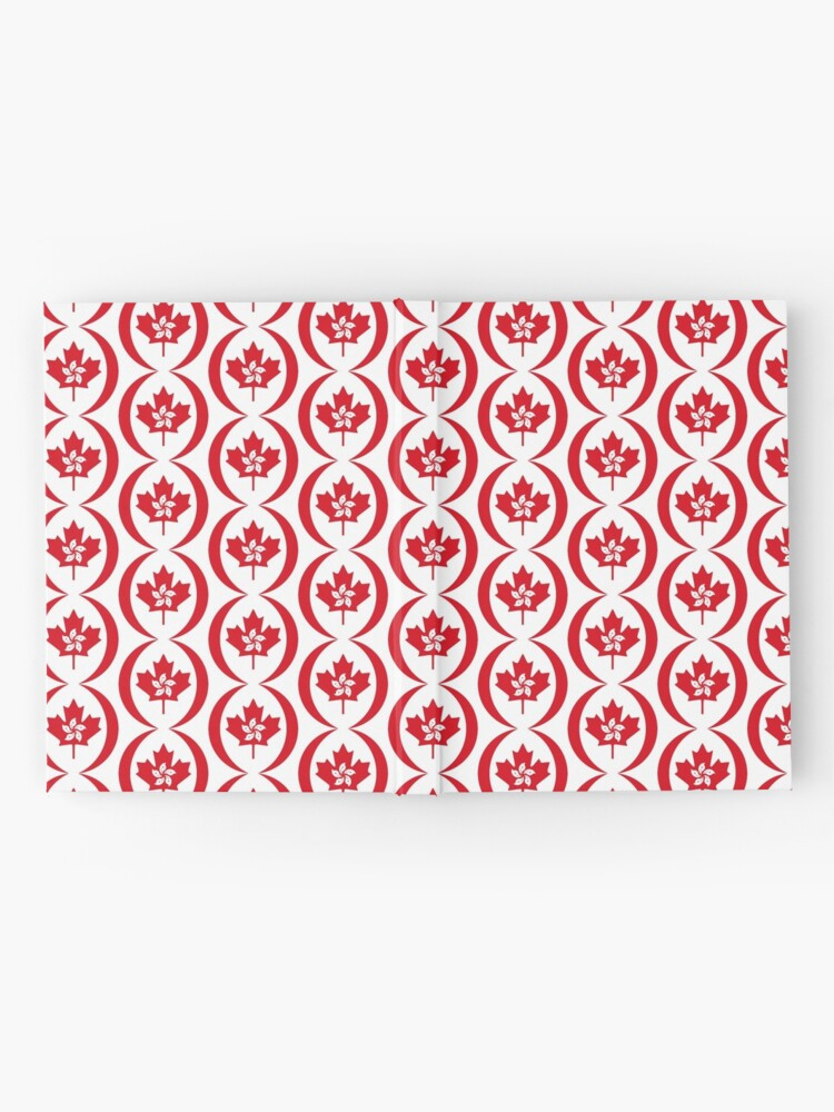 Alternate view of Hong Konger Canadian Multinational Patriot Flag Series Hardcover Journal