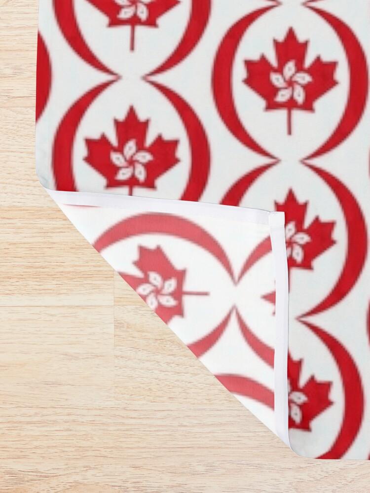 Alternate view of Hong Konger Canadian Multinational Patriot Flag Series Shower Curtain