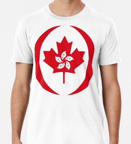 Hong Konger Canadian Multinational Patriot Flag Series Premium T-Shirt
