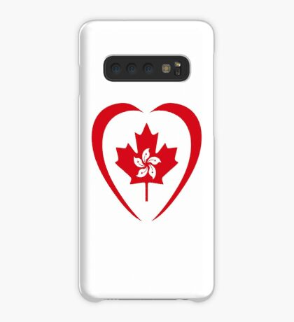 Hong Konger Canadian Multinational Patriot Flag Series (Heart) Case/Skin for Samsung Galaxy