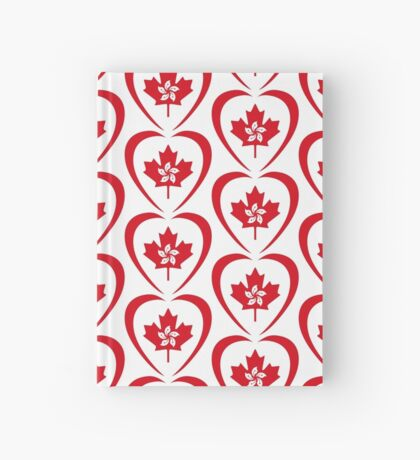 Hong Konger Canadian Multinational Patriot Flag Series (Heart) Hardcover Journal