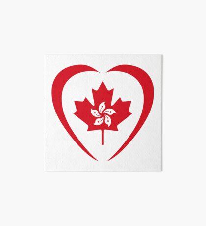 Hong Konger Canadian Multinational Patriot Flag Series (Heart) Art Board Print