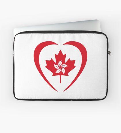 Hong Konger Canadian Multinational Patriot Flag Series (Heart) Laptop Sleeve