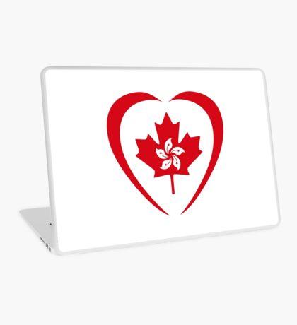 Hong Konger Canadian Multinational Patriot Flag Series (Heart) Laptop Skin