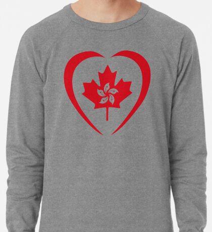 Hong Konger Canadian Multinational Patriot Flag Series (Heart) Lightweight Sweatshirt