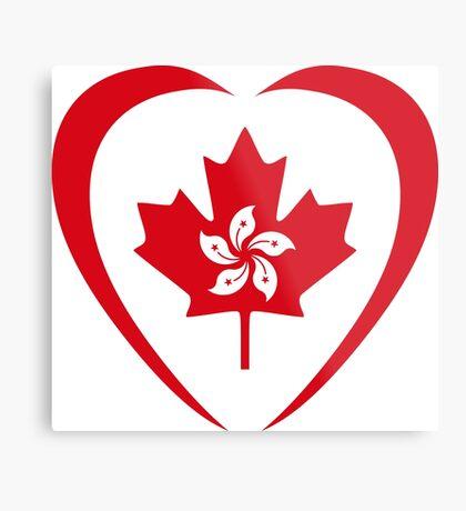 Hong Konger Canadian Multinational Patriot Flag Series (Heart) Metal Print