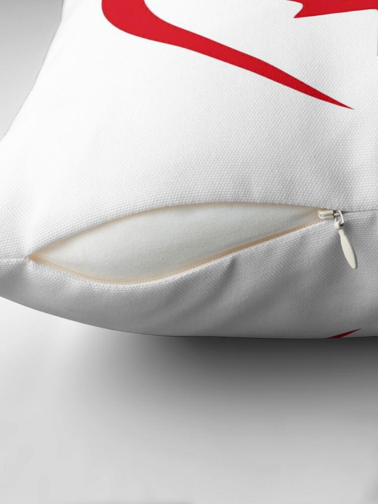 Alternate view of Hong Konger Canadian Multinational Patriot Flag Series (Heart) Throw Pillow