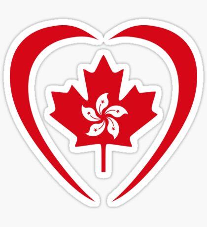 Hong Konger Canadian Multinational Patriot Flag Series (Heart) Sticker