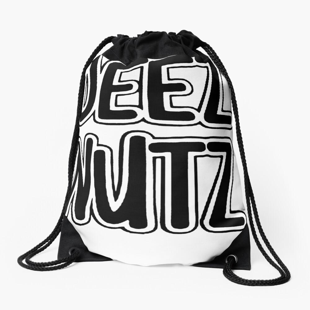 Deez Nuts [Black] Drawstring Bag