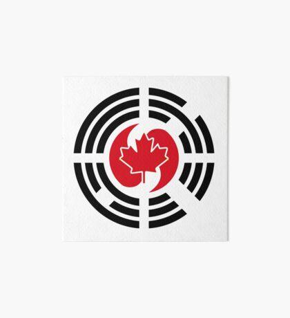 Korean Canadian Multinational Patriot Flag Series Art Board Print