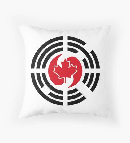 Korean Canadian Multinational Patriot Flag Series Throw Pillow