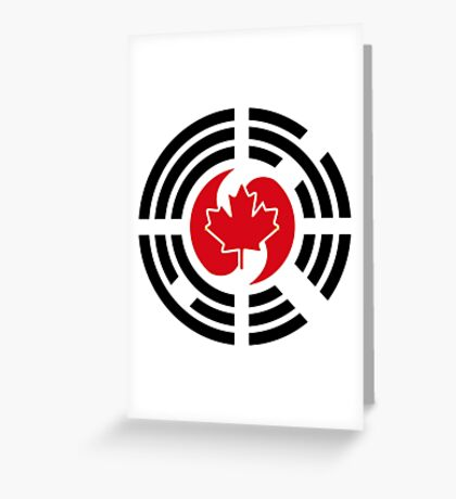 Korean Canadian Multinational Patriot Flag Series Greeting Card