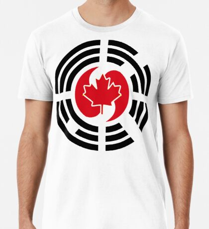 Korean Canadian Multinational Patriot Flag Series Premium T-Shirt