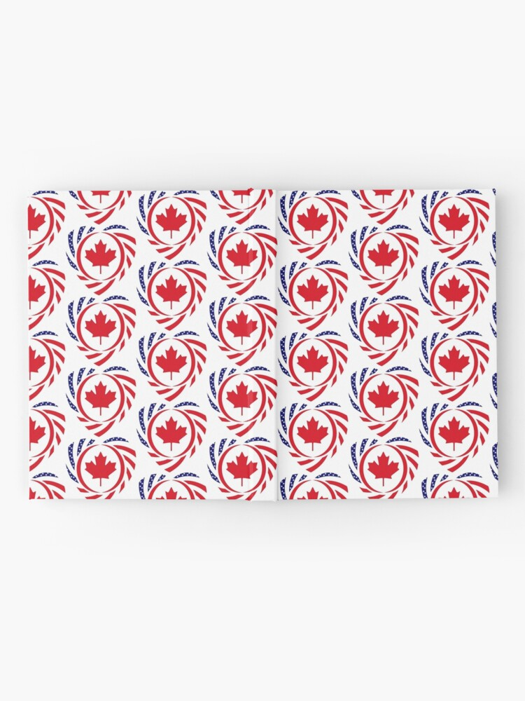 Alternate view of Canadian American Multinational Patriot Flag Series (Heart) Hardcover Journal