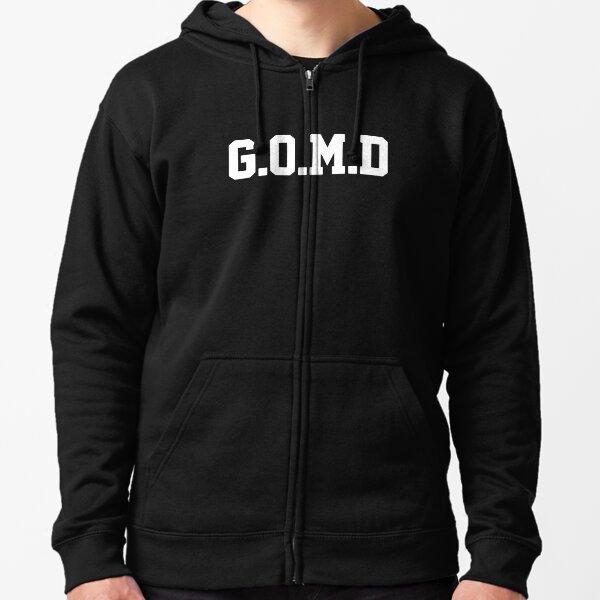 GOMD [RECIBIR MI DICK] Blanco Sudadera con capucha y cremallera
