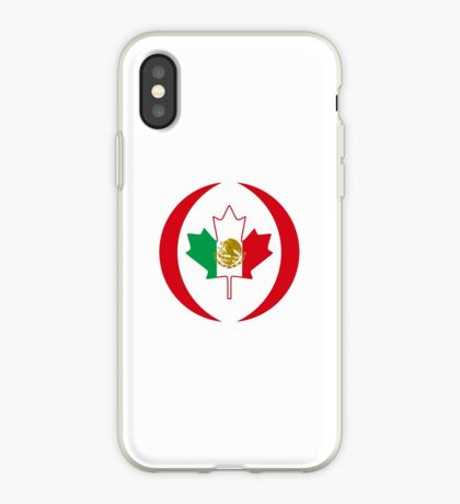 Mexican Canadian Multinational Patriot Flag Series iPhone Case