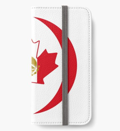 Mexican Canadian Multinational Patriot Flag Series iPhone Wallet