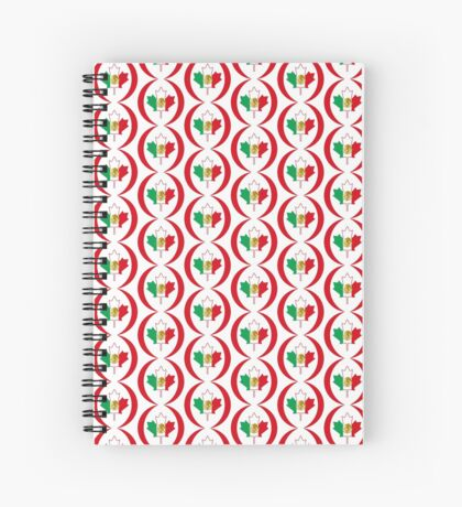 Mexican Canadian Multinational Patriot Flag Series Spiral Notebook