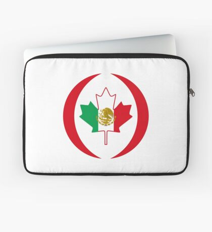 Mexican Canadian Multinational Patriot Flag Series Laptop Sleeve