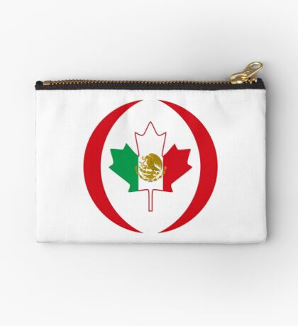Mexican Canadian Multinational Patriot Flag Series Zipper Pouch