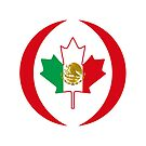 Mexican Canadian Multinational Patriot Flag Series by Carbon-Fibre Media