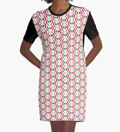 Mexican Canadian Multinational Patriot Flag Series Graphic T-Shirt Dress