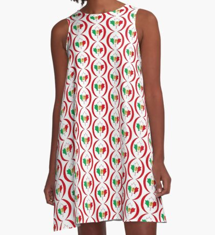 Mexican Canadian Multinational Patriot Flag Series A-Line Dress