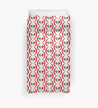 Mexican Canadian Multinational Patriot Flag Series Duvet Cover